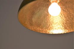 ランプ半球 鍛金 鋳肌
